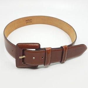 Ann Taylor Brown Leather Belt - Medium